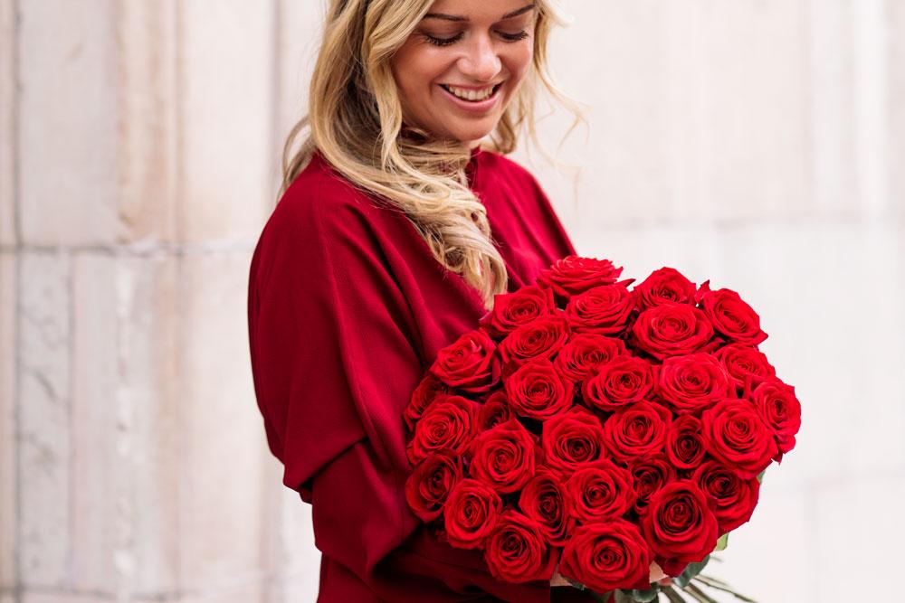 skicka blommor alla hjärtans dag