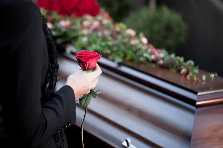 handros vid begravning