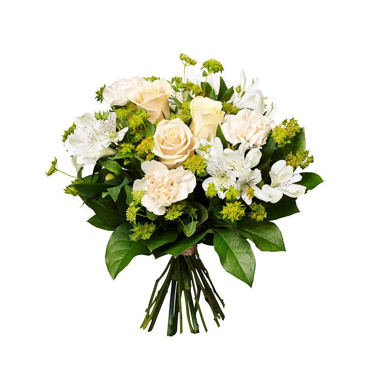 text på blommogram
